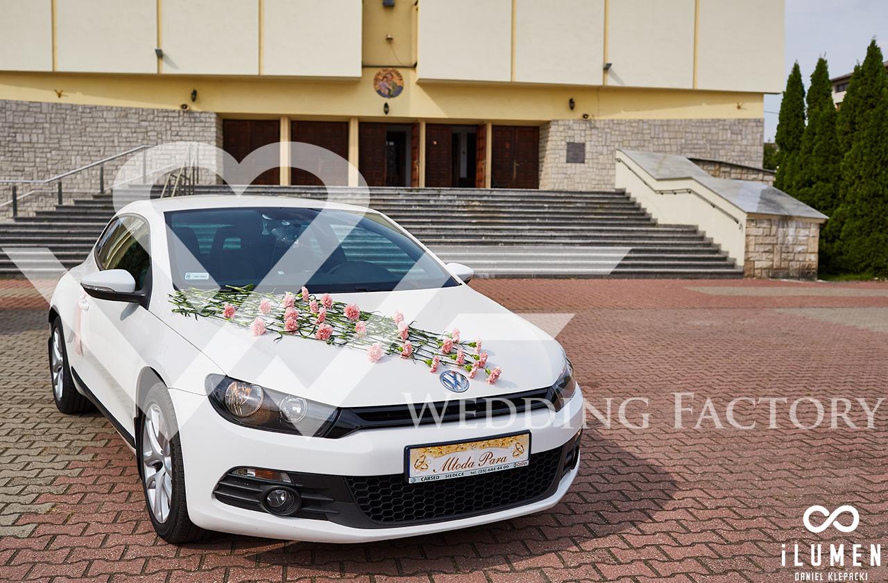 samochód do ślubu scirocco