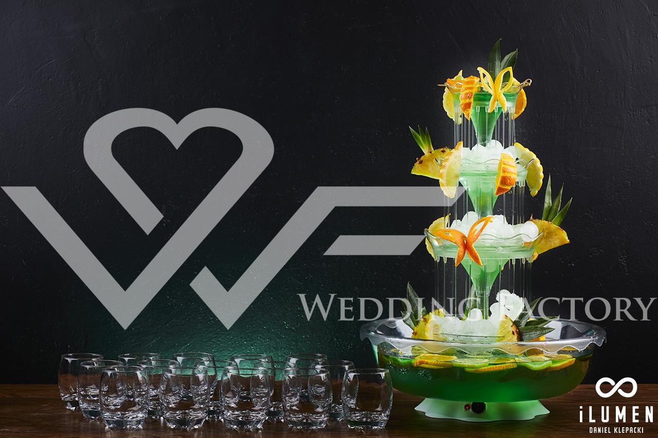 fontanna alkoholu na wesele